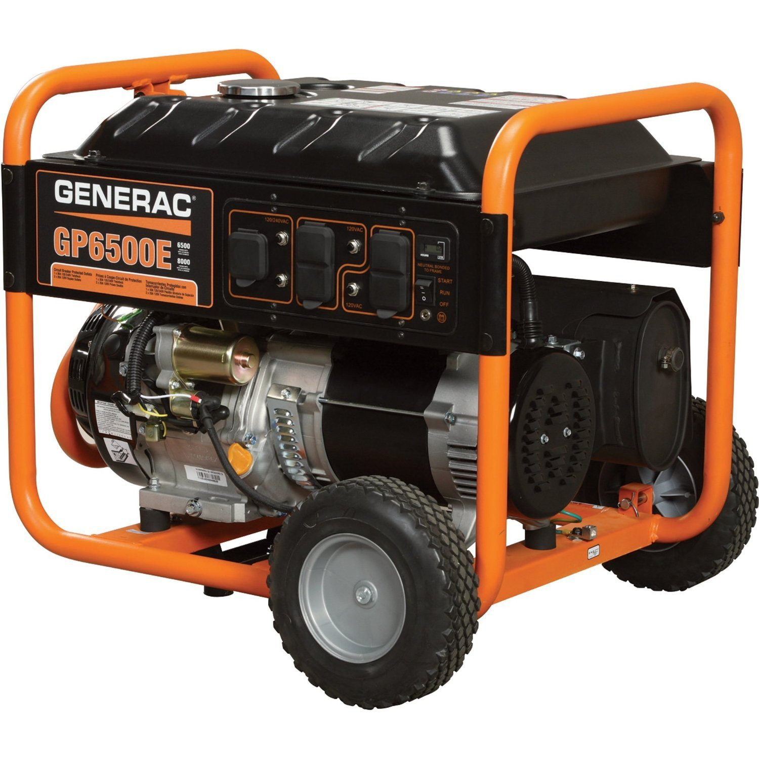 Generac 6500E Portable Generator Back Up Power Generators